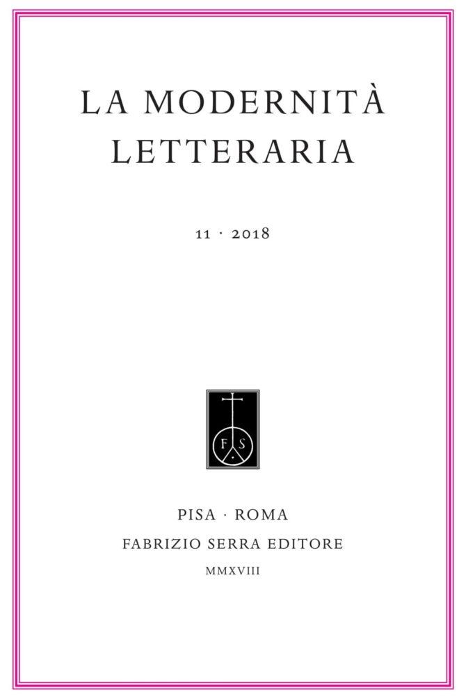 La modernità letteraria, n. 11, 2018