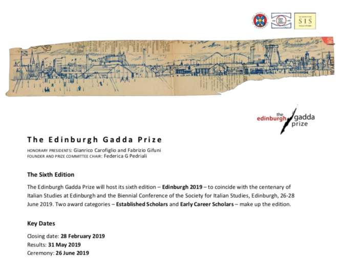 The Edinburgh Gadda Prize 2019
