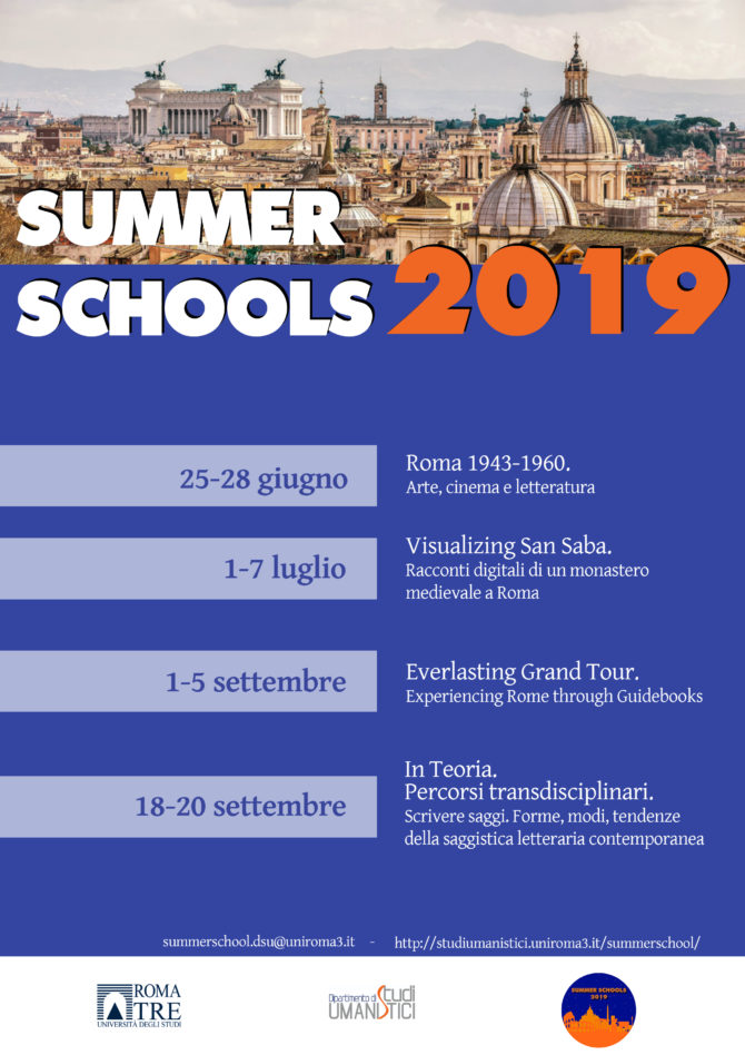 Summer Schools DSU Roma Tre 2019