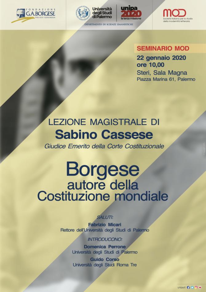 Lezione di Sabino Cassese