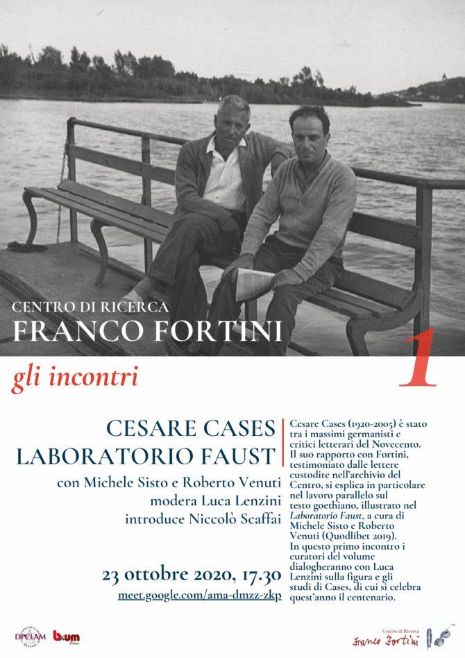 Gli incontri del Centro di ricerca Franco Fortini
