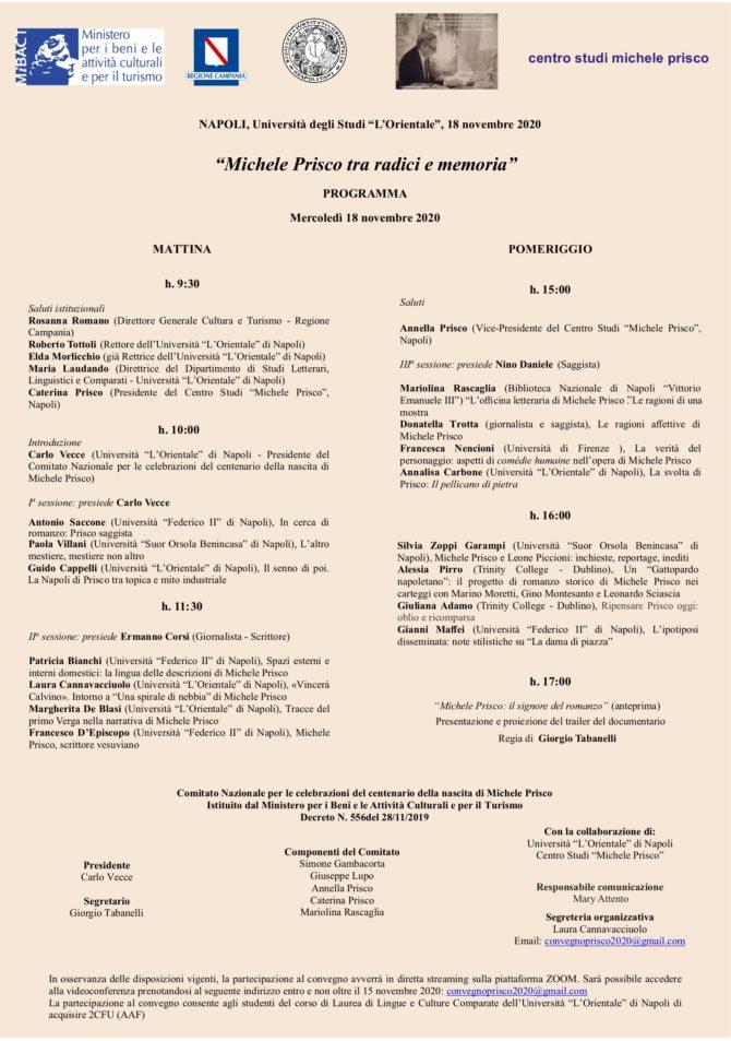 Michele Prisco tra radici e memoria