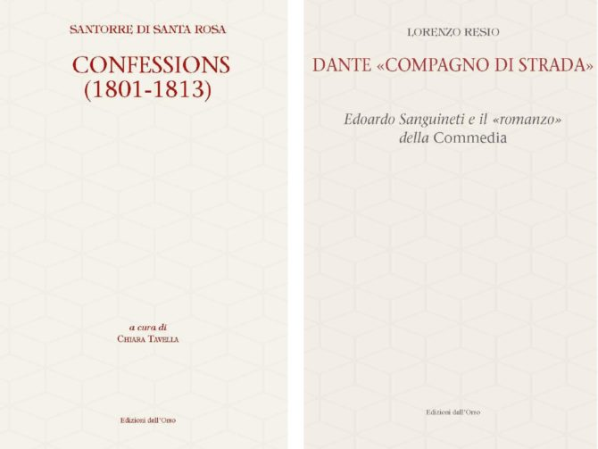 Due pubblicazioni per le Edizioni dell'Orso