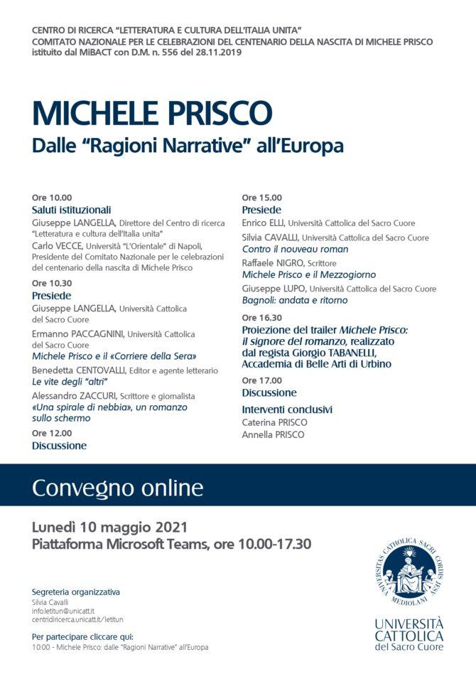 """MICHELE PRISCO: DALLE """"RAGIONI NARRATIVE"""" ALL'EUROPA"""